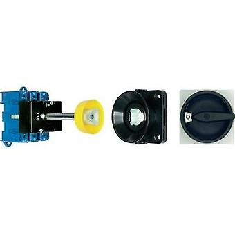 Isolator switch + door interlock 80 A 1 x 90 ° Black Kraus & Naimer KG80 T103/09 VE 1 pc(s)
