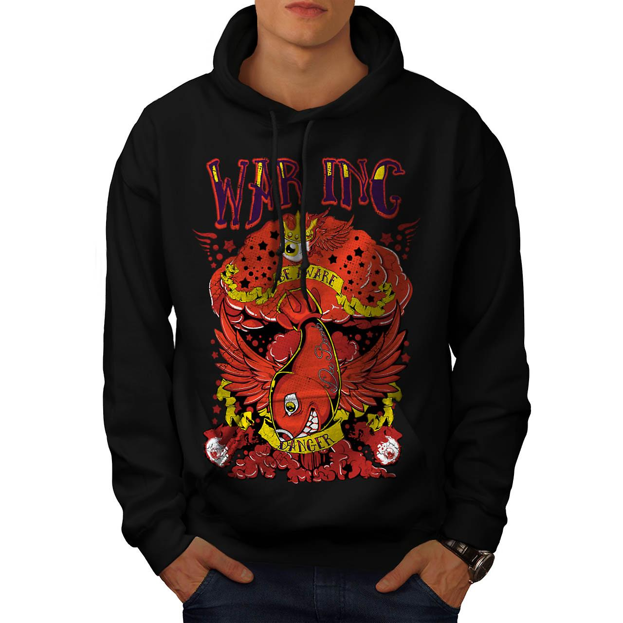 War Inc Nuke Bomb Fashion Men Black Hoodie | Wellcoda