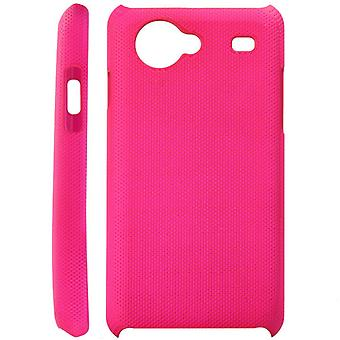 Dotted plastic cover for Samsung Galaxy S Advance i9070 (Pink)