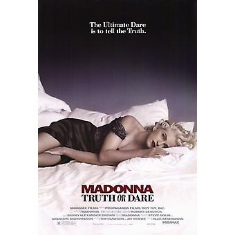 Madonna Truth or Dare Movie Poster Print (27 x 40)