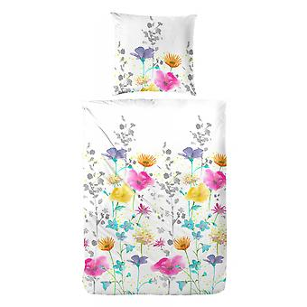 COCK Maco Satin Bed linen stained 155 x 220 cm flowers