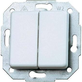 Kopp Insert Series switch Europa Arctic white, Matt 613513065