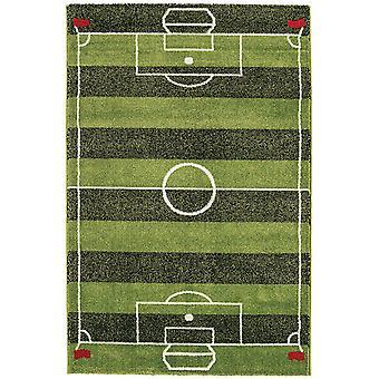 Børnene sjove interaktive grønne fodbold Pitch soveværelse tæppe