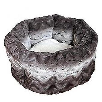 40 blink putte Bed runde Plys grå & creme 15