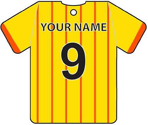 Personalised Partick Thistle Football Shirt Car Air Freshener