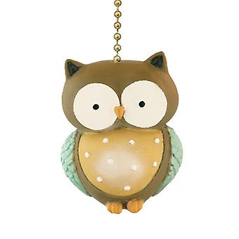 Whooos A Wise Little Owl Ceiling Fan Pull or Light Pull Chain