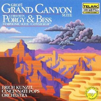Kunzel/Cincinnati Pops - Grof: Grand Canyon Suite; Gershwin: Porgy & Bess symfonisk Svit [CD] USA import