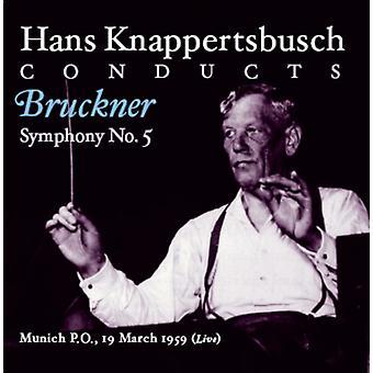 A. Bruckner - Hans Knappertsbusch gennemfører Bruckner symfoni No. 5 [CD] USA import