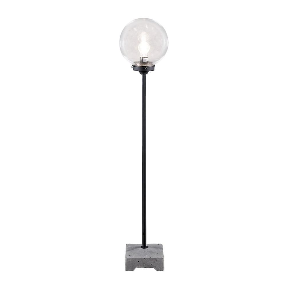 Konstsmide Lodi noir de plein air Lamp With Clear Glass Globe
