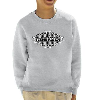Tallebudgera Creek Fishermen 1869 Black Kid's Sweatshirt