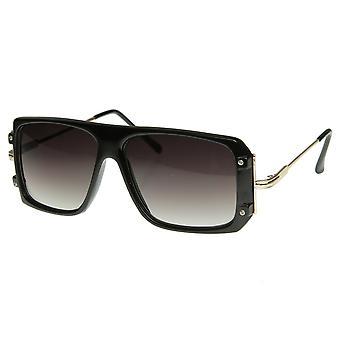 Vintage Inspired Fashion Square Retro Flat Top Sunglasses