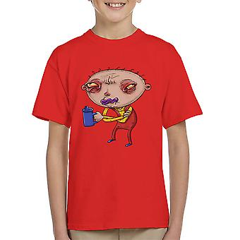 Stewie voordat koffie Family Guy Kid's T-Shirt