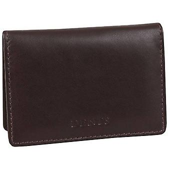 Dents Leather Credit Card Holder - Chocolate