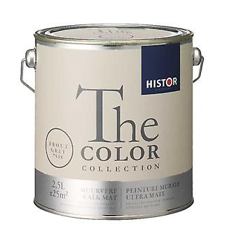 Histor The Color Collection muurverf kalkmat trout grey 7518 2,5 l