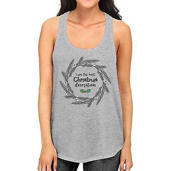 Je suis le meilleur Noël décoration guirlande Womens camisole mignon gris