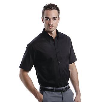 Kustom Kit Tailored Fit Oxford Short Sleeve Shirt-KK187