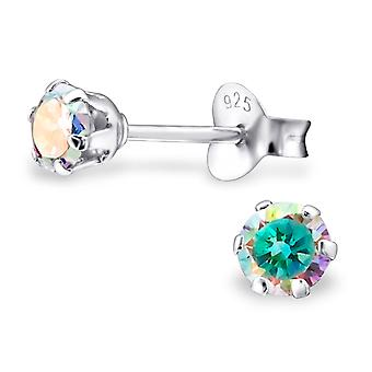 Round - 925 Sterling Silver Classic Ear Studs