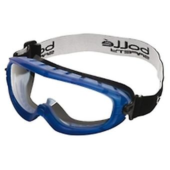Bolle Atofapsi Atom Goggles Blue Thermo Plastic Rubber Frame Clear Anti-Scratch
