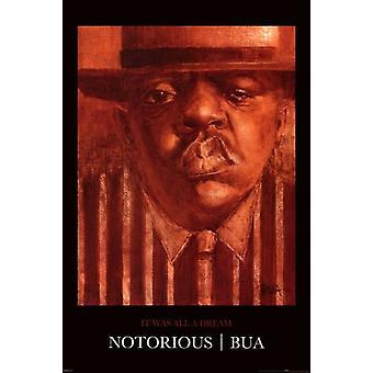 Notorious BIG - Justin Bua Poster Plakat-Druck