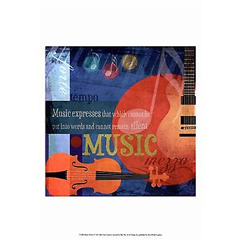 Music Notes X Poster Print by Beth Anne Creative (13 x 19)