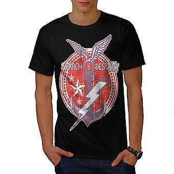 Marine mer navire hommes Vintage BlackT-chemise | Wellcoda