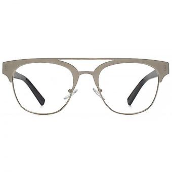 Hook LDN Faraway Stainless Steel Browline Glasses In Brown