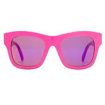 Stella McCartney Falabella Chain Temple Detail Sunglasses In Bright Pink