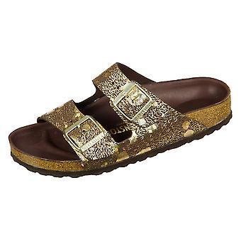 Birkenstock Arizona Hex Metallic Brown Natural Leather Spotted 1006041 universal  women shoes