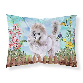 Carolines Treasures  CK1227PILLOWCASE Poodle Spring Fabric Standard Pillowcase