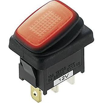 SCI Toggle switch R13-66B8 12 Vdc 16 A 1 x Off/On latch 1 pc(s)