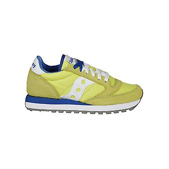 Saucony ladies 2044450 yellow suede of sneakers