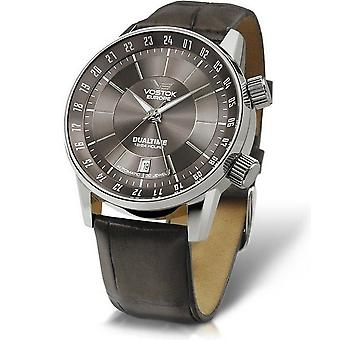 Vostok Europe automatic Herrenuhr Dualtime 2426 5601058 sedan