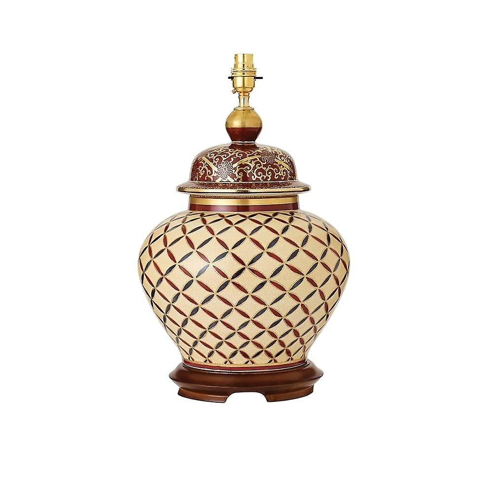 Interiors 1900 Kutani Cross Stitch Single lumière Ceramic Table La