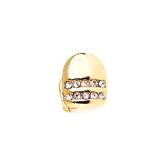 Bling 10x8mm Grill - one size fits all gold tooth Cap