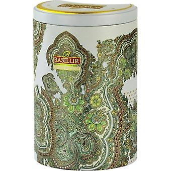 Basilur Tea Oriental Collection White Moon Oolong Green Loose Tea In Tin Caddy 100G