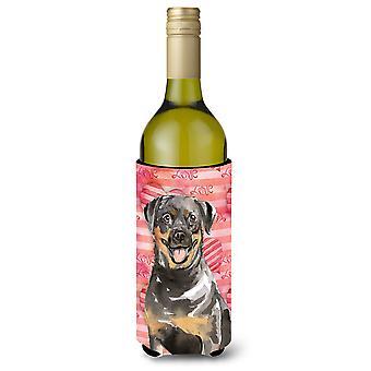 Love a Rottweiler Wine Bottle Beverge Insulator Hugger