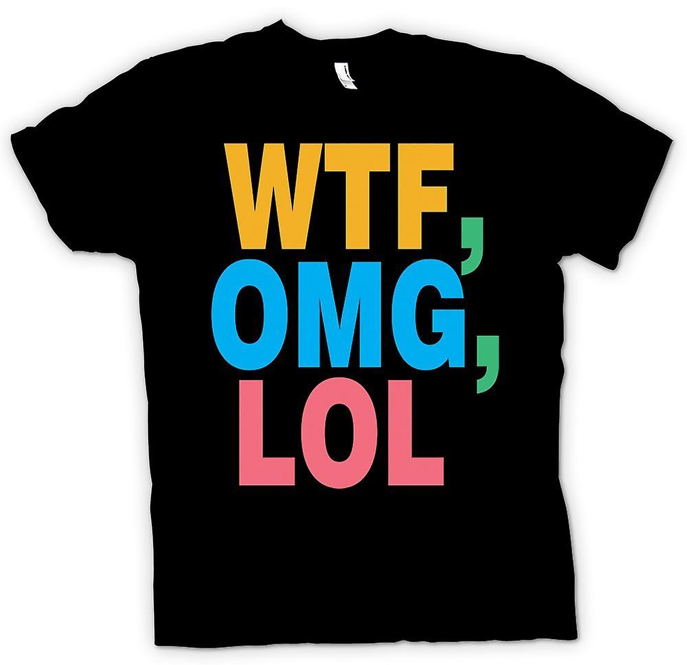 Mens t-skjorte - WTF, OMG, LOL - Funny