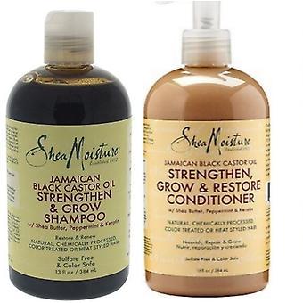 Shea Moisture Jamaican Black Castor Oil Shampoo 384ml  & Conditioner 384ml