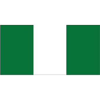 Bandera de Nigeria 5 pies x 3 pies con ojales para colgar