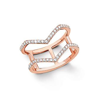 s.Oliver jewel ladies silver cubic zirconia ring Rosé gold SO1333