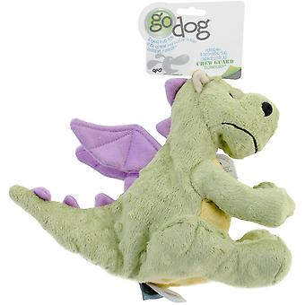 goDog Dragons with Chew Guard Large-Lime