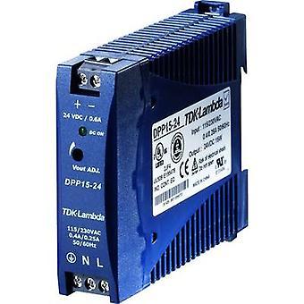 Rail mounted PSU (DIN) TDK-Lambda DPP-15-24 24 Vdc 0.63 A 15 W 1 x