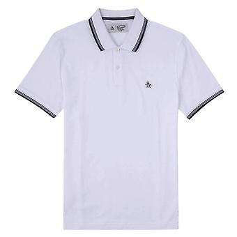 Original Penguin 56 Tipped Pique Polo Shirt - Bright White