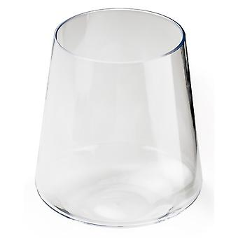 GSI Outdoors Stemless Wine Glass Stemless Design Allows for Stability White
