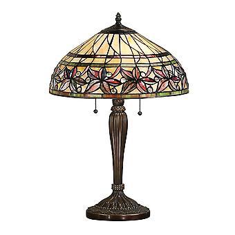 Interiör 1900 Ashtead stora 2 ljus Tiffany stil T