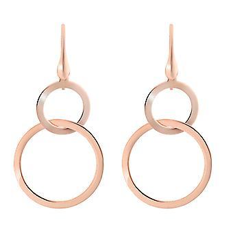 Orphelia argent 925 boucles d'oreilles Or Rose cercles - ZO-7392