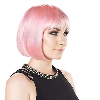 Party Wig - Short Bob - Candyfloss Pink - Pastel Colours