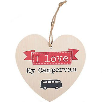 Something Different I Love My Campervan Heart Sign