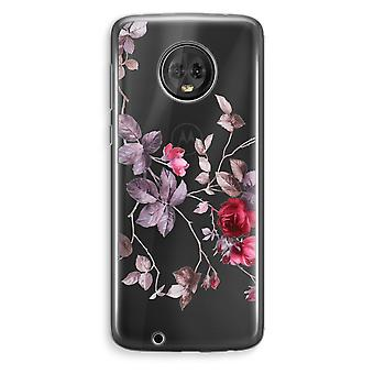 Motorola Moto G6 Plus Transparent Case (Soft) - Pretty flowers