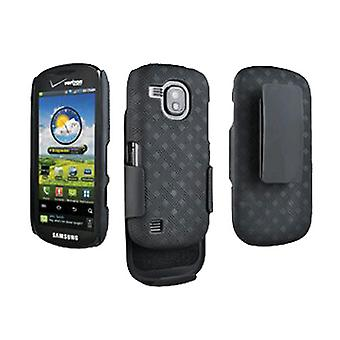 Verizon Rubberized Hard Shell Holster Case for Samsung Continuum SCH-i400 (Black)